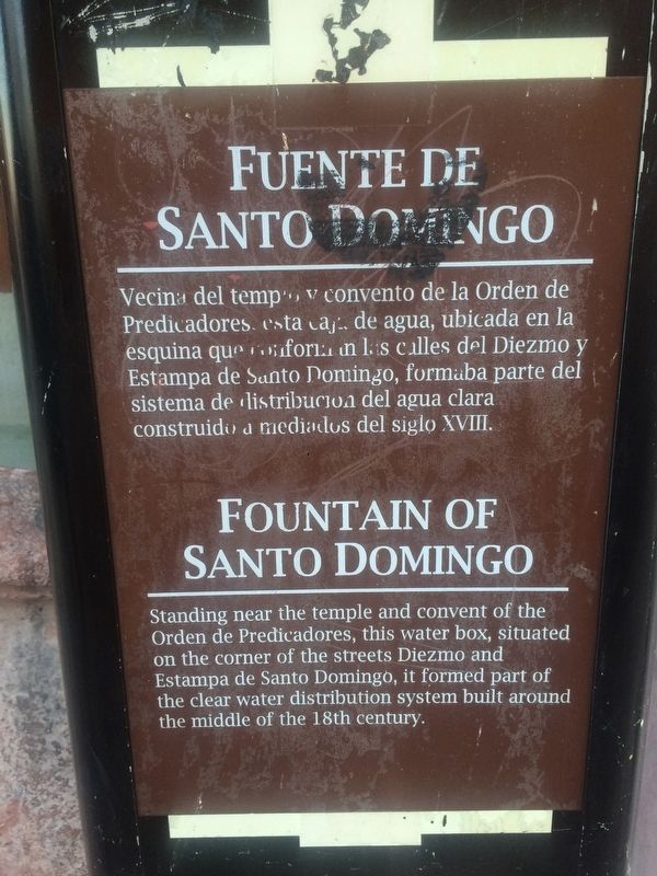 Fountain of Santo Domingo Marker image. Click for full size.
