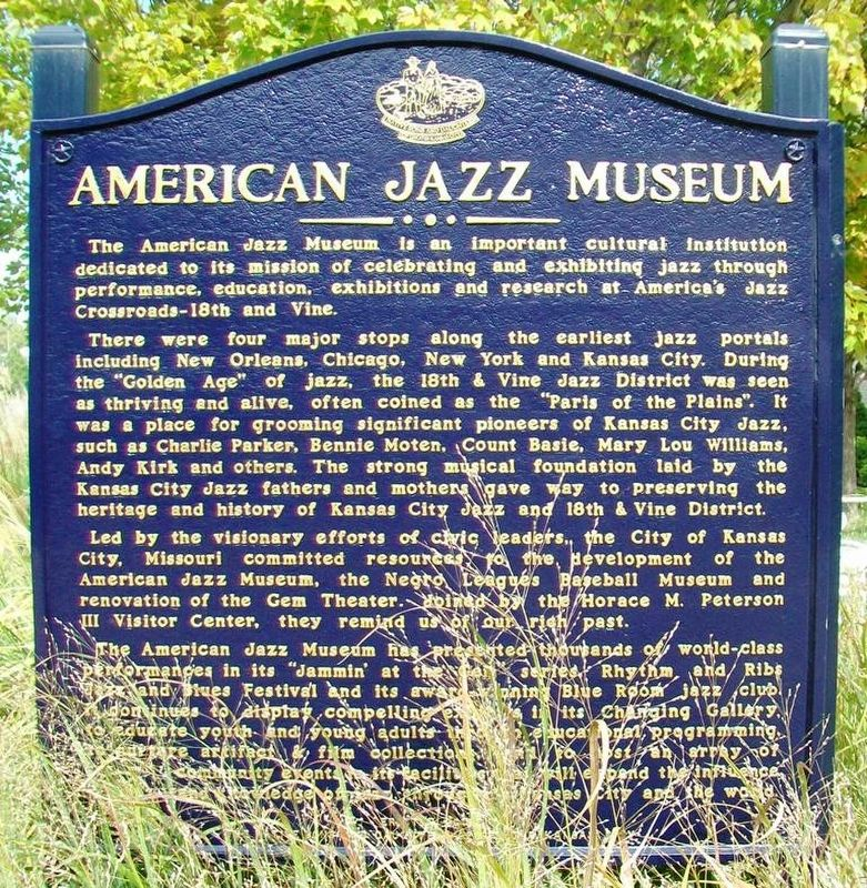 American Jazz Museum Marker image. Click for full size.