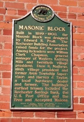 Masonic Block Marker image. Click for full size.