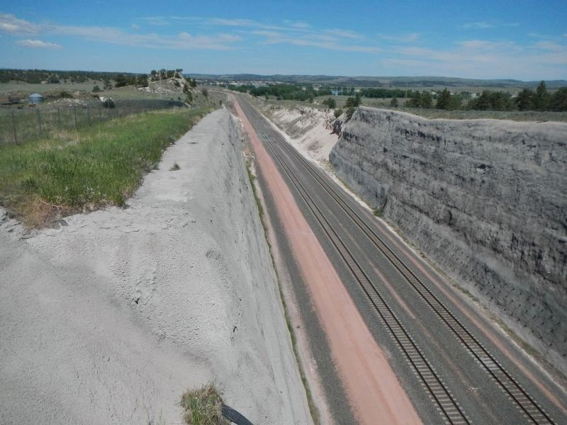 The section of Burlington Northern track daylighted by the removal of Tunnel No. 2 image. Click for full size.