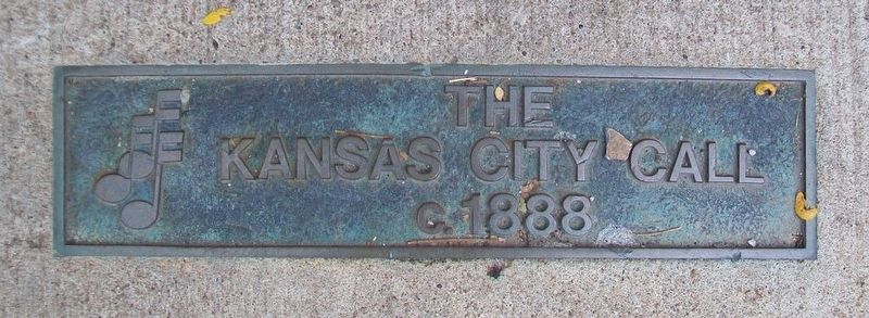 Kansas City Call Jazz District Sidewalk Marker image. Click for full size.