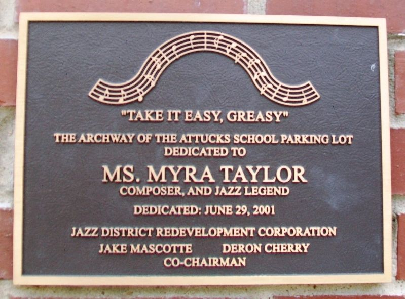 Ms. Myra Taylor Marker image. Click for full size.