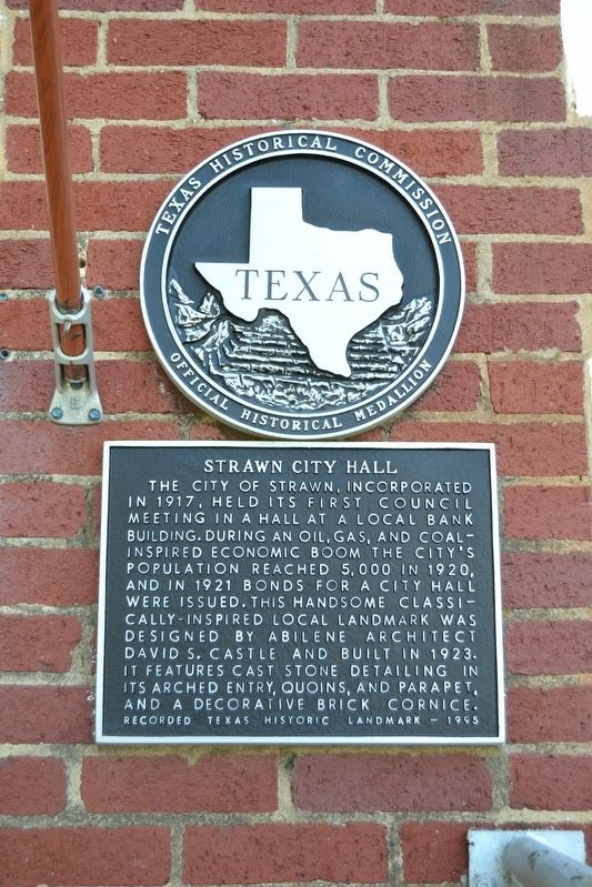 Strawn City Hall Marker image. Click for full size.