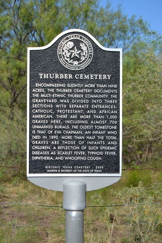 Thurber Cemetery Marker image. Click for full size.