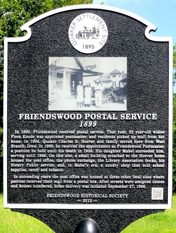 Friendswood Postal Service Marker image. Click for full size.