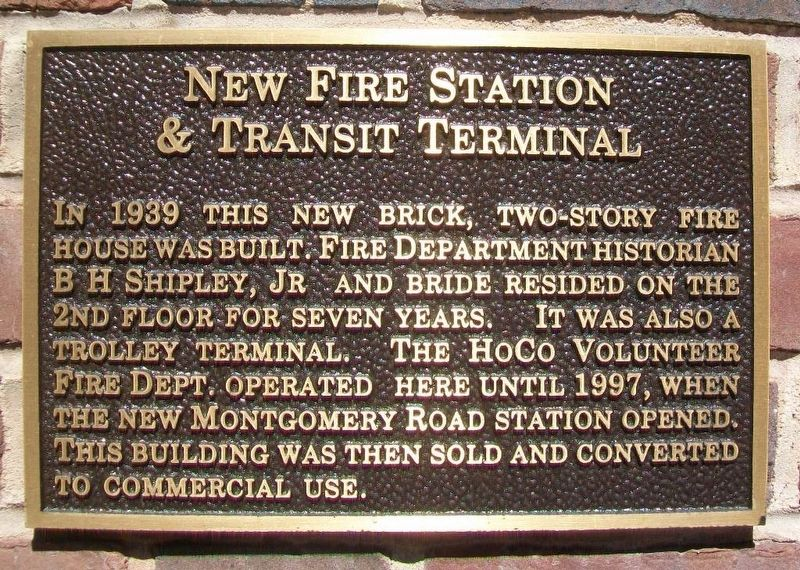 New Fire Station & Transit Terminal Marker image. Click for full size.