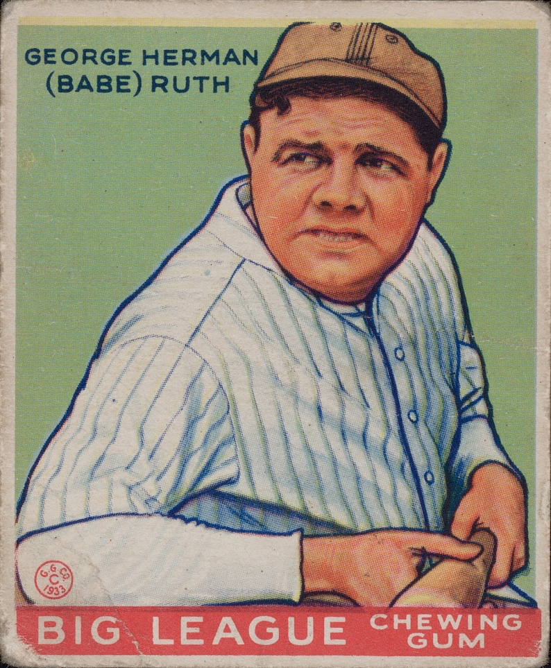 "George Herman ""Babe"" Ruth Big League Chewing Gum Card"