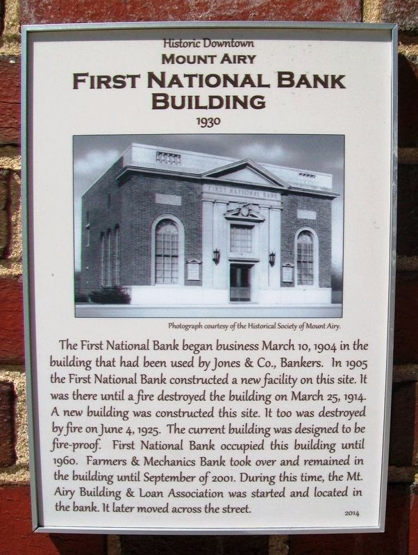 First National Bank Building Marker image. Click for full size.