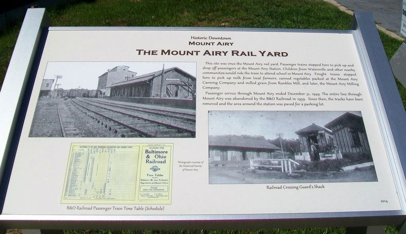 The Mount Airy Rail Yard Marker image. Click for full size.