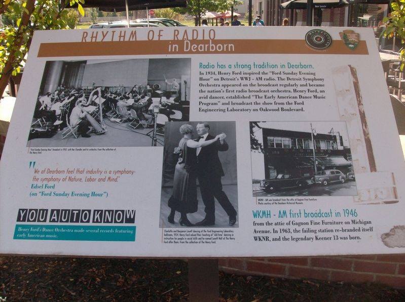 Rhythm of Radio in Dearborn Marker image. Click for full size.