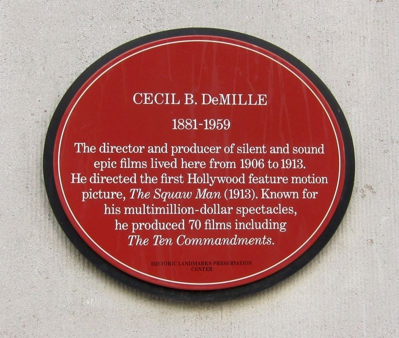 Cecil B. DeMille Marker image. Click for full size.
