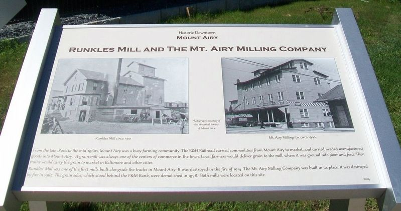 Runkles Mill and The Mt. Airy Milling Company Marker image. Click for full size.