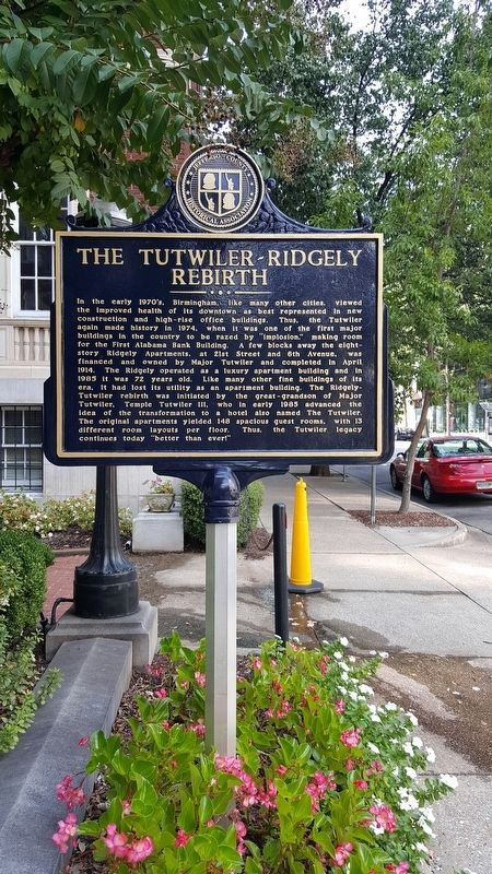 The Tutwiler-Ridgely Rebirth Marker image. Click for full size.