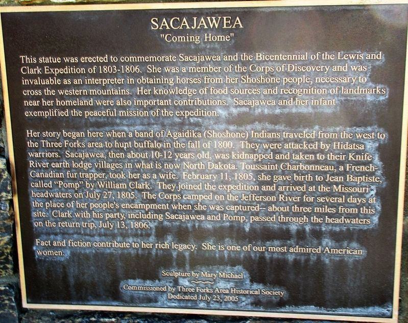 Sacajawea Statue image. Click for full size.