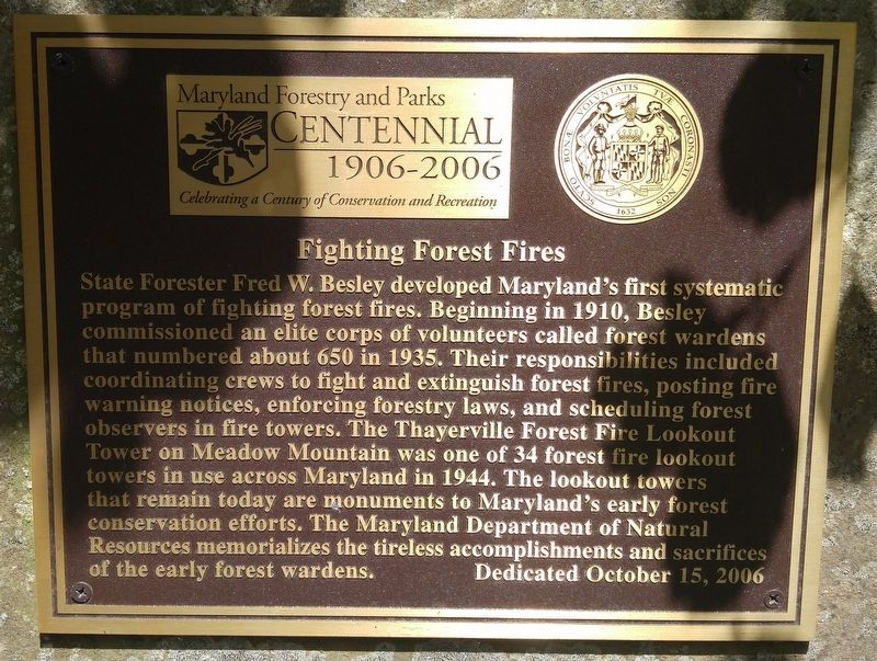 Fighting Forest Fires Marker image. Click for full size.
