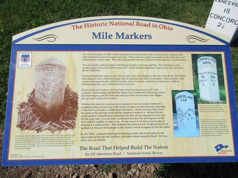 Peters Creek Mile Marker Marker image. Click for full size.
