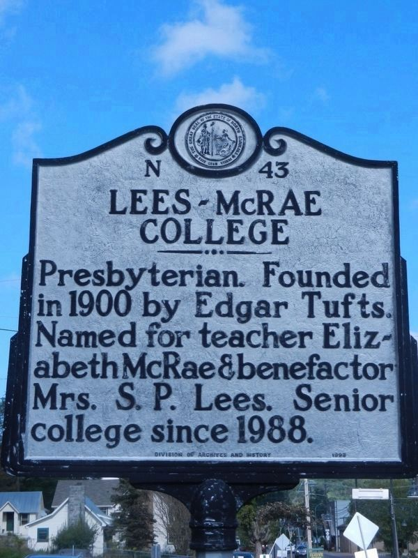 Lees-McRae College Marker image. Click for full size.