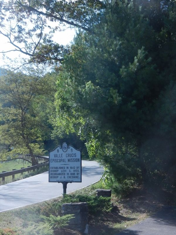 Valle Crucis Episcopal Mission Marker image. Click for full size.