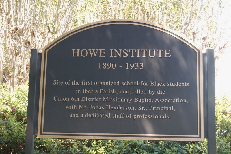 Howe Institute Marker image. Click for full size.