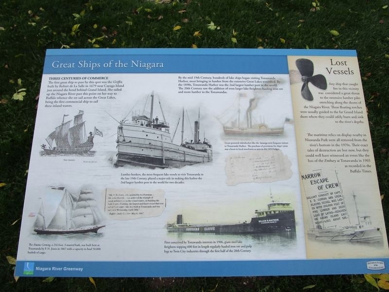 Great Ships of the NIagara Marker image. Click for full size.