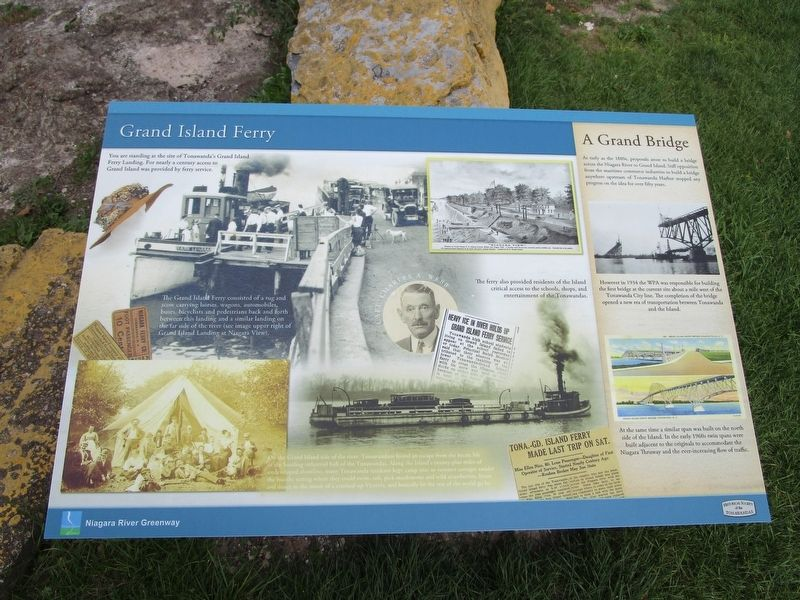 Grand Island Ferry Marker image. Click for full size.