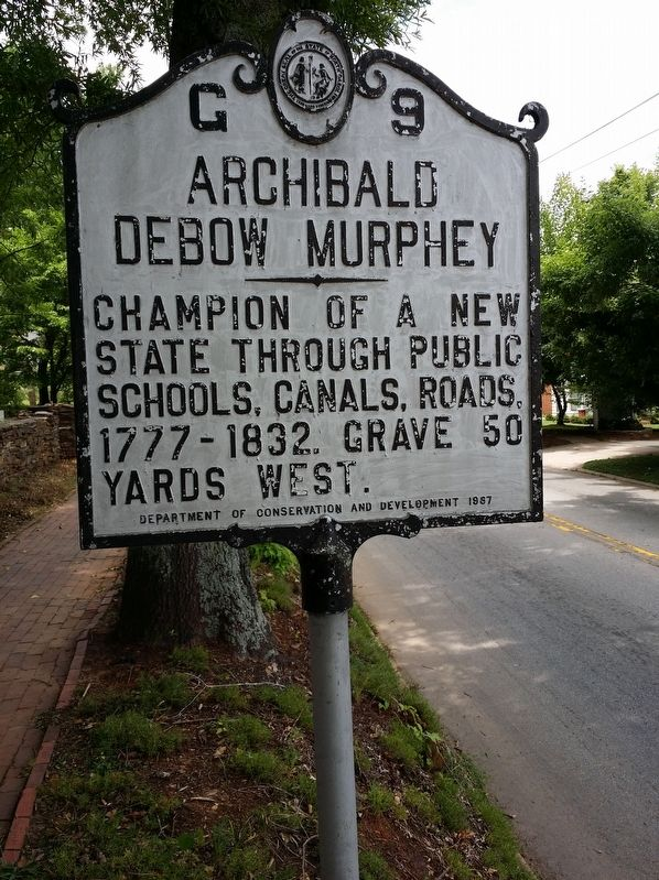 Archibald Debow Murphey Marker image. Click for full size.