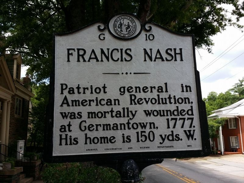 Francis Nash Marker image. Click for full size.