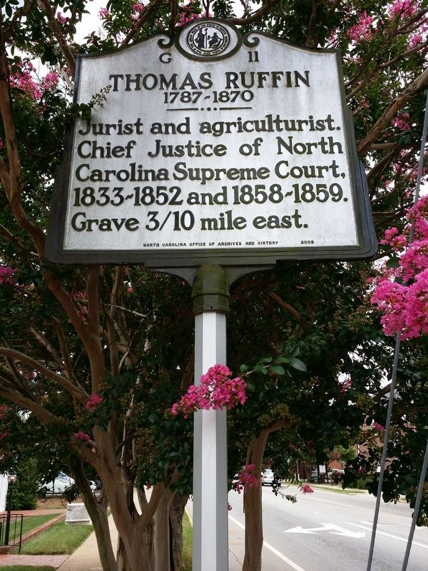 Thomas Ruffin Marker image. Click for full size.
