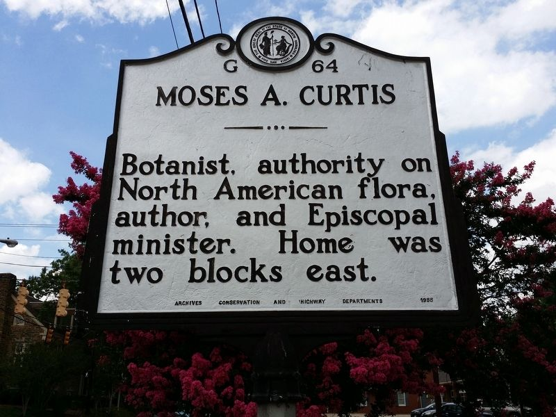 Moses A. Curtis Marker image. Click for full size.