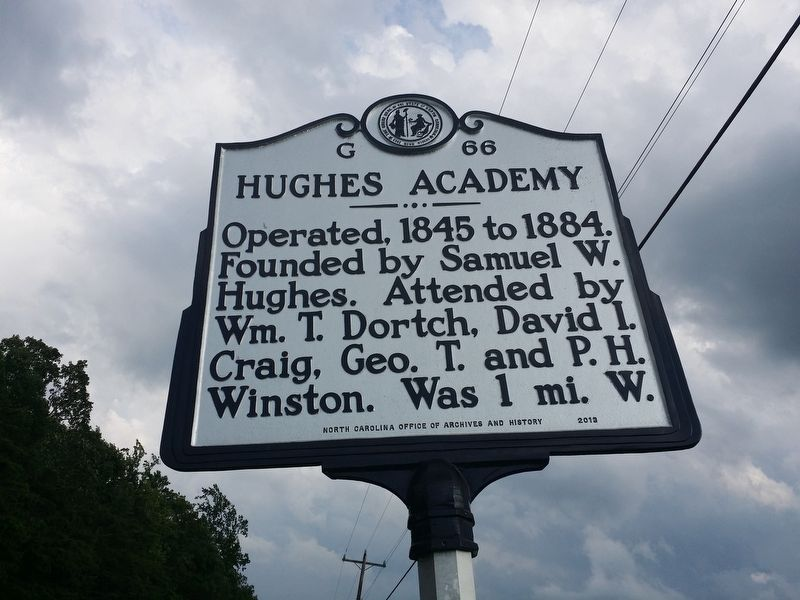 Hughes Academy Marker image. Click for full size.