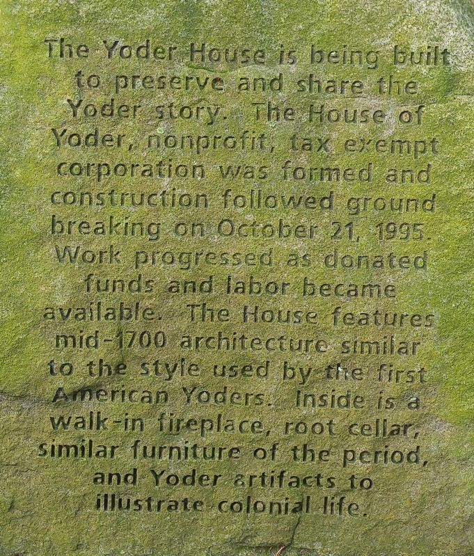 Yoder House Marker image. Click for full size.