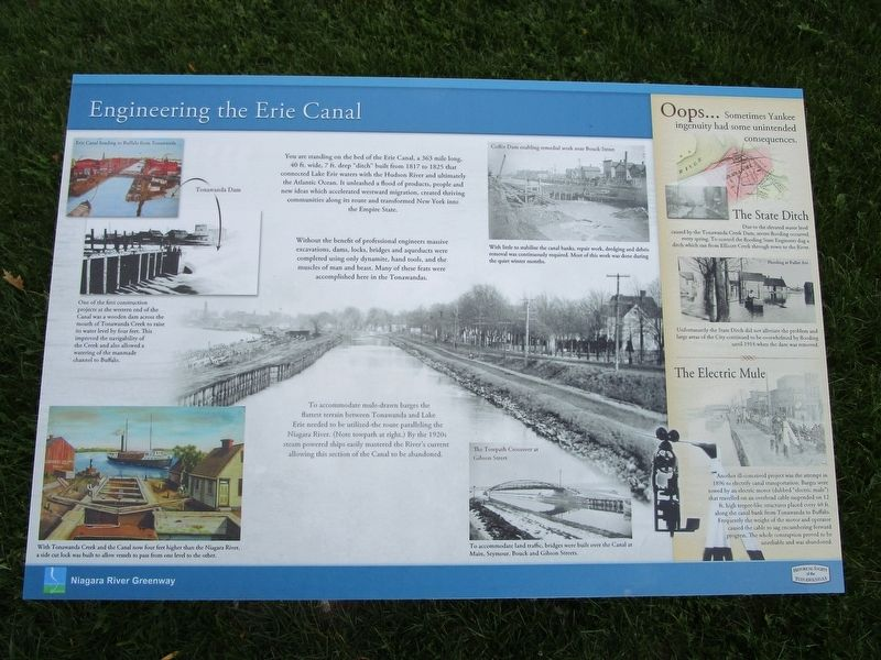 Engineering the Erie Canal Marker image. Click for full size.