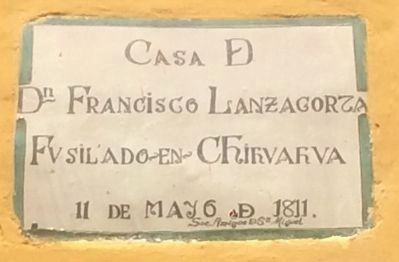 House of Francisco Lanzagorta Marker image. Click for full size.