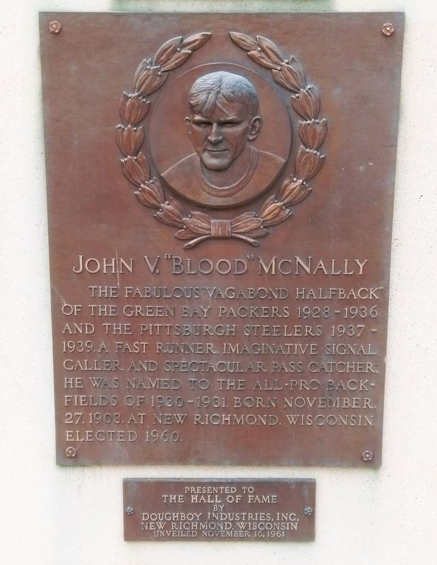 "John V. ""Blood"" McNally Marker image. Click for full size."