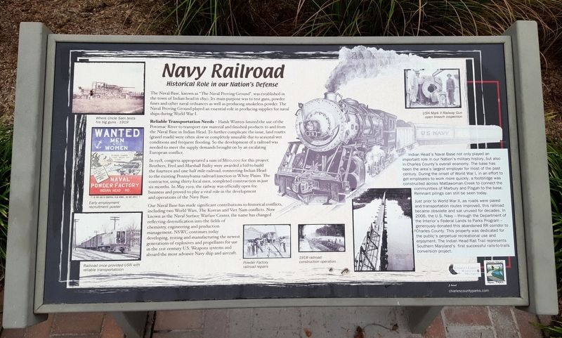 Navy Railroad Marker image. Click for full size.