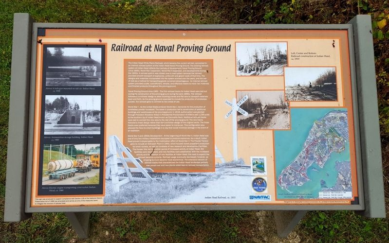 Railroad at Naval Proving Ground Marker image. Click for full size.
