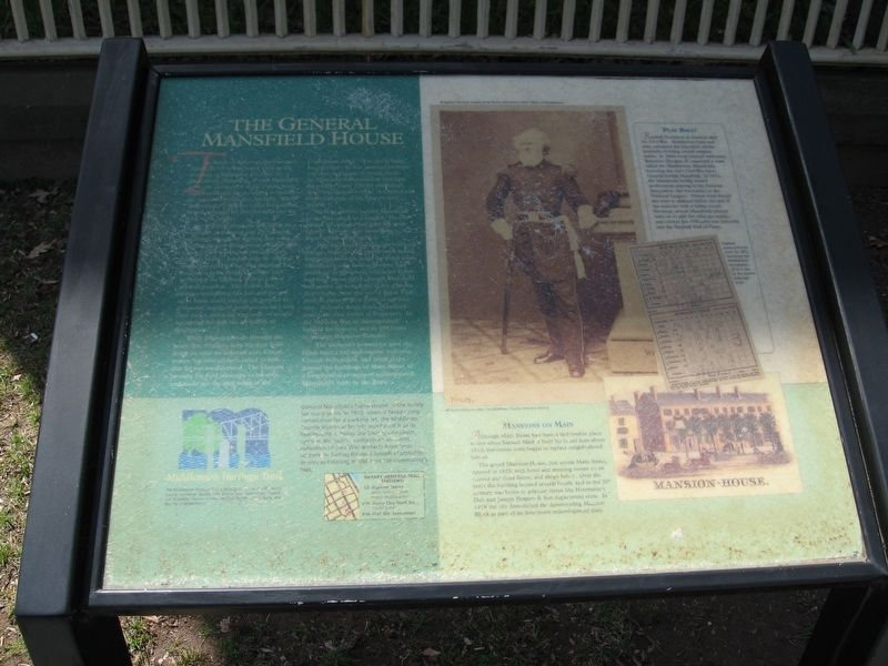The General Mansfield House Marker image. Click for full size.