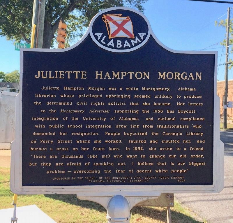Juliette Hampton Morgan Marker image. Click for full size.