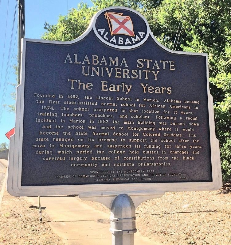 Alabama State University Marker image. Click for full size.