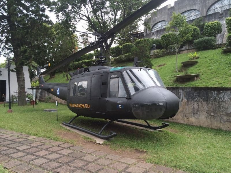 Nearby UH1H (Huey) Helicopter, used by Guatemalan military image. Click for full size.