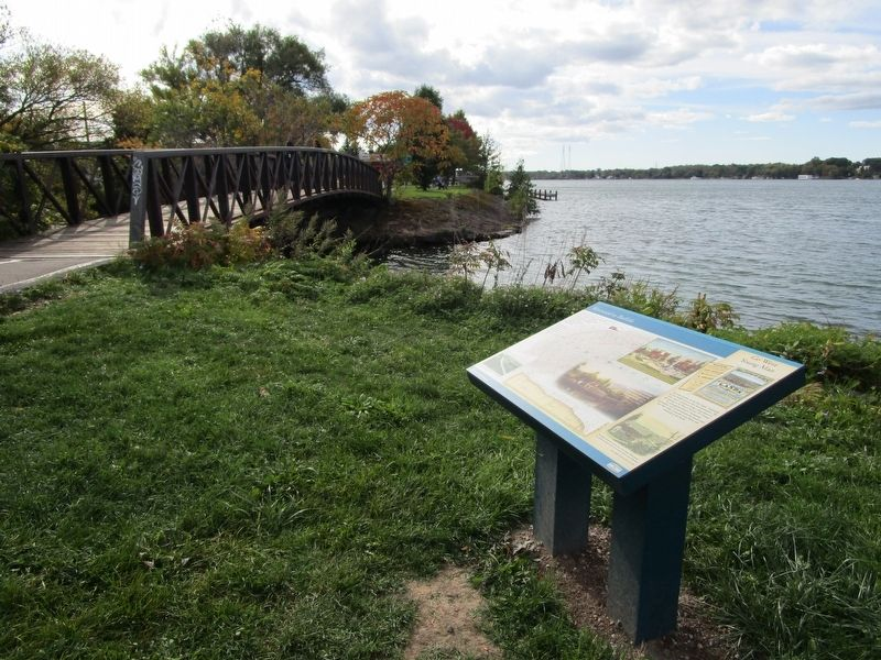 Westward to Buffalo Marker on the Riverwalk image. Click for full size.