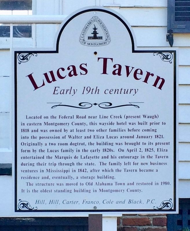 Lucas Tavern Marker image. Click for full size.