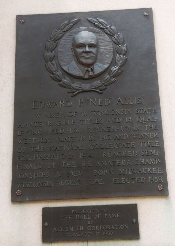 "Edward P. ""Ned"" Allis Marker image. Click for full size."