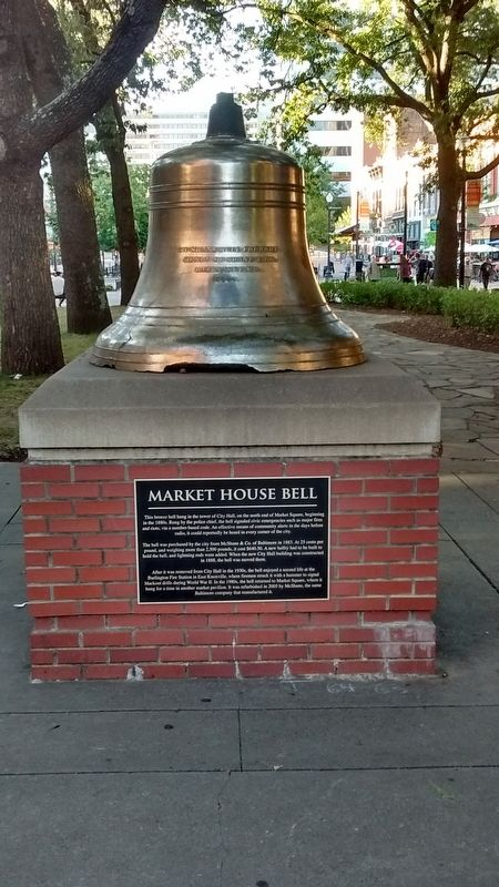 Market House Bell Marker image. Click for full size.