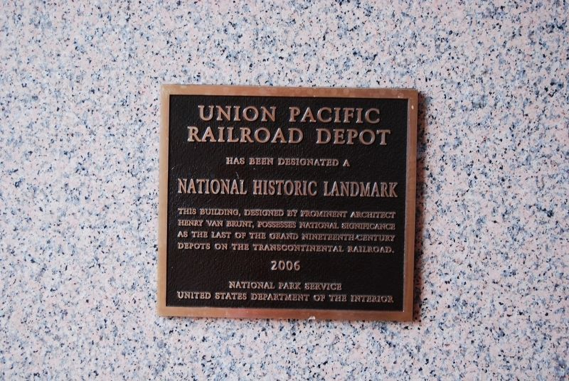 Union Pacific Depot Marker image. Click for full size.