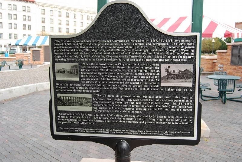 The Union Pacific Railroad Part 1 Marker image. Click for full size.