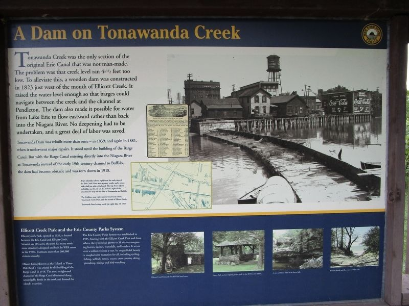 A Dam on Tonawanda Creek Marker image. Click for full size.