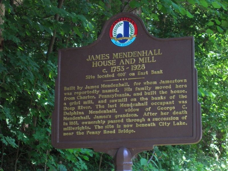 James Mendenhall House and Mill Marker image. Click for full size.