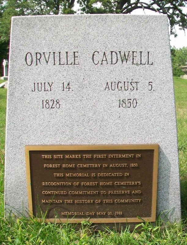 Orville Cadwell Marker image. Click for full size.