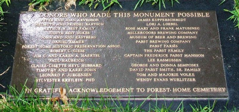 Jacob Best Monument Donors image. Click for full size.